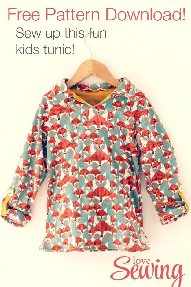 Kids Tunic - Free Pattern to Download! | Sewing for Children ...