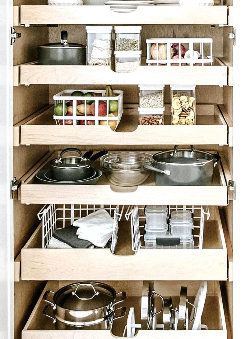 Once I Bought These Stackable Bins I Bid Farewell To My Fruit Bowl In 2020 Made By Design Tall Kitchen Cabinets Stackable Baskets