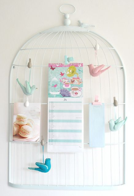 Bird Cage Memo Holder Torie Jayne Pinterest Bird Cages Bird Enchanting Birdcage Memo Board