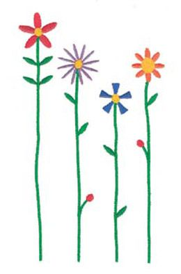 Download free springtime flower machine embroidery designs