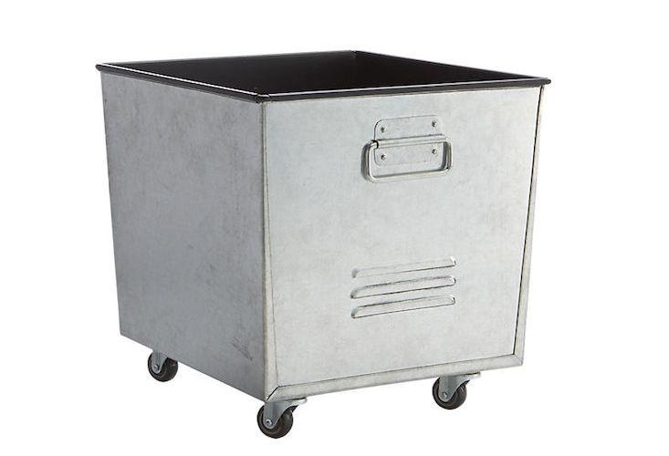Rolling Storage Bin Galvanized Gardenista Storage Modern Table And Chairs Beautiful Storage