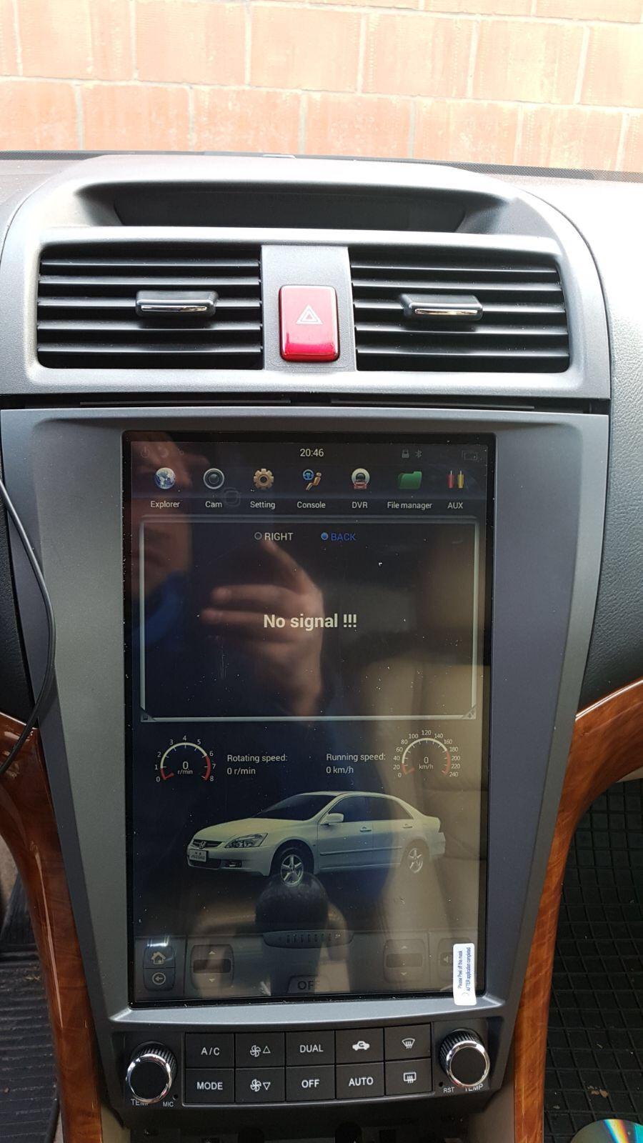 Tesla Vertical Screen Car Dvd Gps Player Car Radio Navigation System For Honda Accord 2003 2007 Www Navihua Com Whatsapp Car Radio Car Videos Car Dvd Players