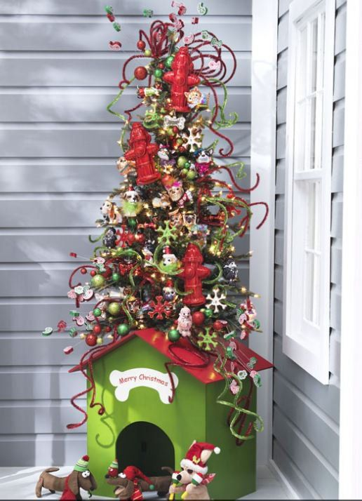 raz 2012 christmas trees dog house tree only one of its kind from raz its not longer offered by raz but lets make this pin go viral and maybe raz - Raz Christmas Decorations 2012