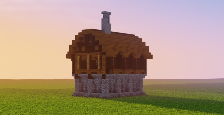 Medieval Home [ Interior & Schematic Included ] Minecraft