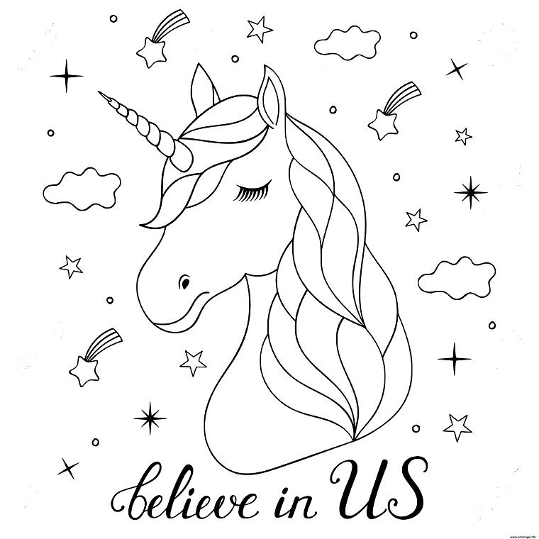 Disegno Di Un Unicorno Sfondo Con Emoji Disegni Da Colorare Unicorno Disegni