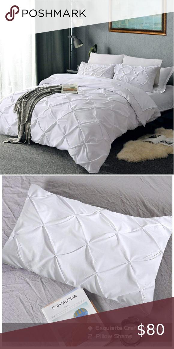 New Pinch Pleated Duvet Cover Pintuck Duvet Cover Duvet Covers Bed Duvet Covers