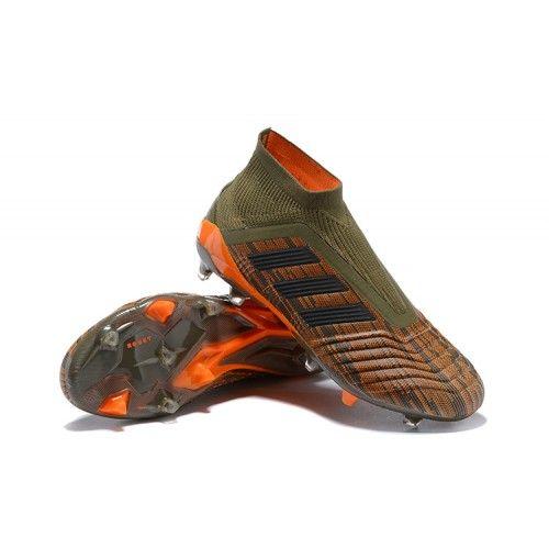 Buy adidas Predator 18+ FG green black orange Soccer Cleats from Adidas at  soccercleats77.com  adidas  predator18+  fg 84e3cab64
