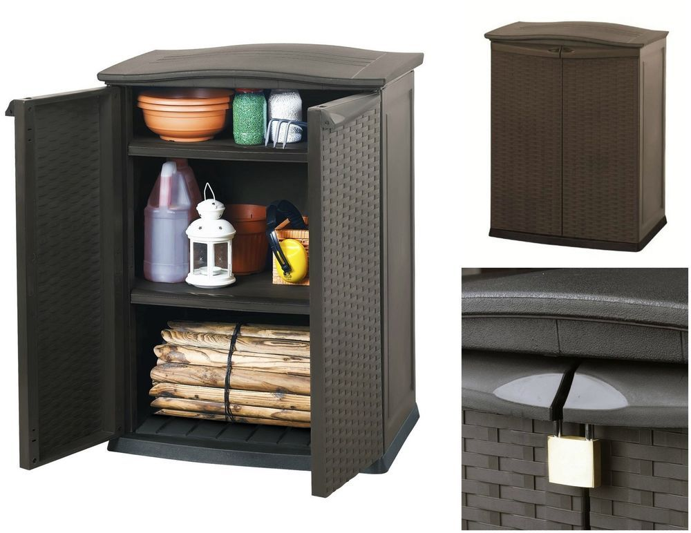 Outdoor Storage Cabinet Keter Cupboard Tool Box Shoe Storage