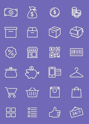 Permanent Link to: Elements Design: e-Commerce icons (PSD)