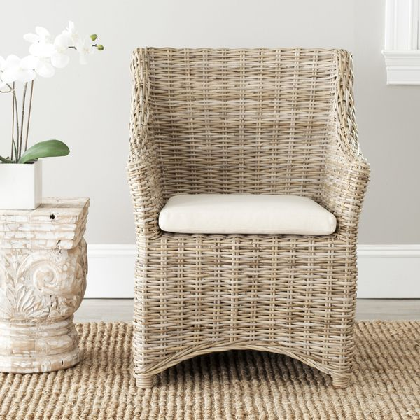 Safavieh St Thomas Indoor Wicker Washed Out Brown Wing Back Arm Chair    Overstock™ Shopping   Great Deals On Safavieh Dining Chairs. As Seen On Stu2026