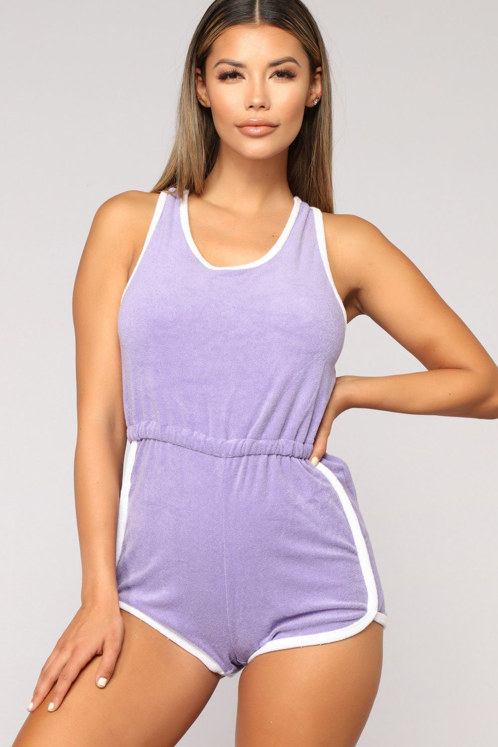 04ab572a65 Giana Active Romper - Lavender