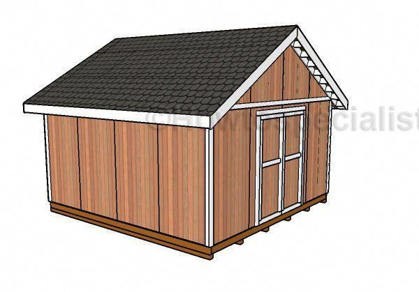 Free 16x16 Shed Plans #shedbuildingplans