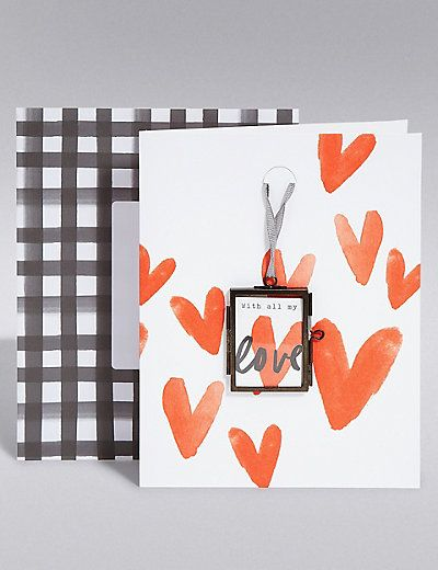 keepsake metal frame valentine's day card | m&s | cards, gift wrap, Ideas