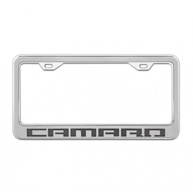 Stainless Steel/Carbon Fiber License Plate Frame - Camaro - Black ...