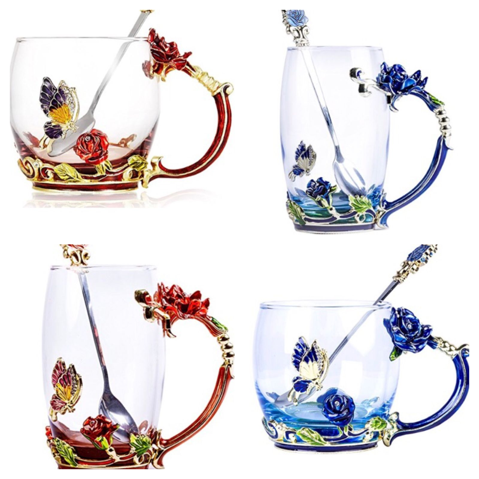 Cups and Saucers 36029 Set Of 1 Or 4 Tea Cup Coffee Mug