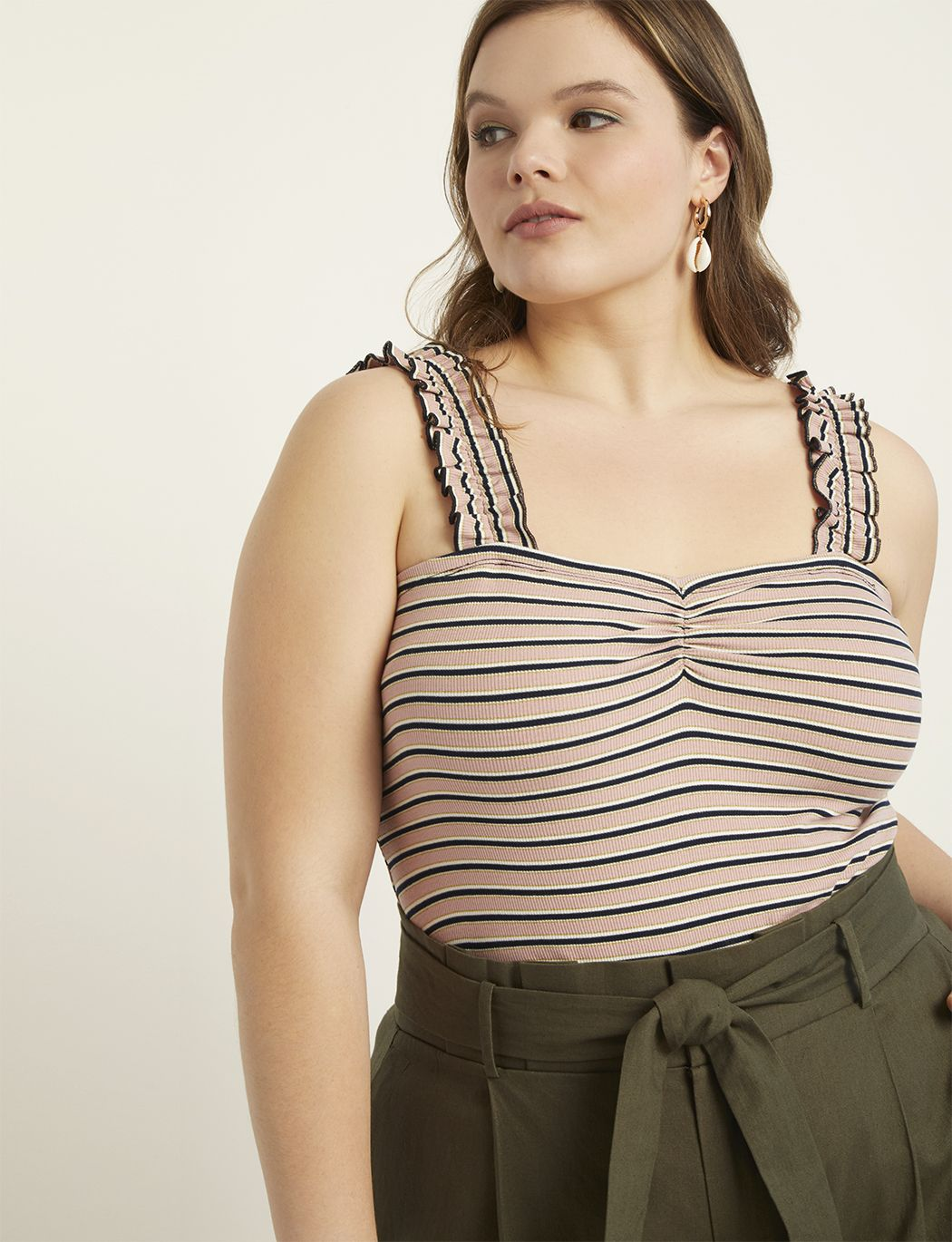 caf43b3859b0a Ruffle Strap Tank in 2019 | My Style | Tops, Plus size tops, Plus ...
