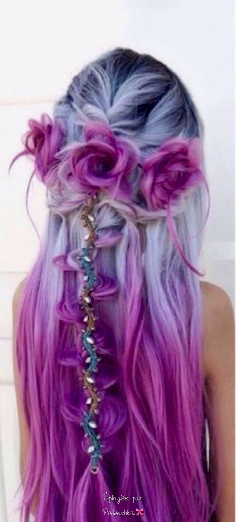 Beautiful Colored Hair And Hairstyle Mermaid Hair Color Hair Styles Hair Color Purple