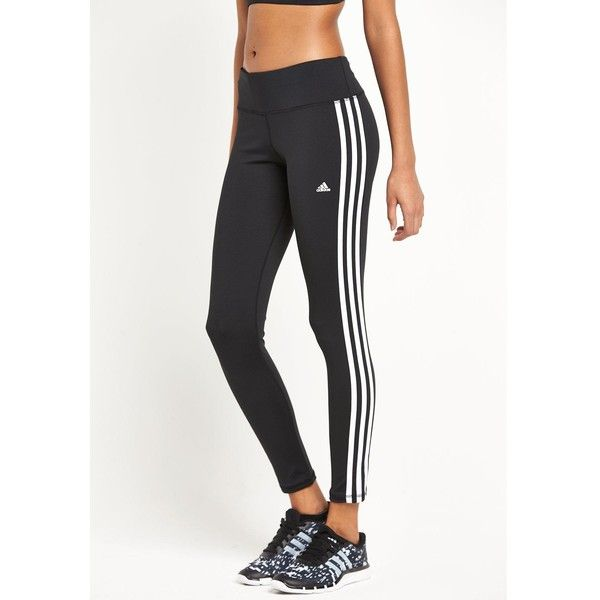 b98e809de11 Adidas Basic 3S Tights ($42) ❤ liked on Polyvore featuring activewear,  activewear pants, bottoms, pants, sport, adidas, adidas activewear and  adidas ...
