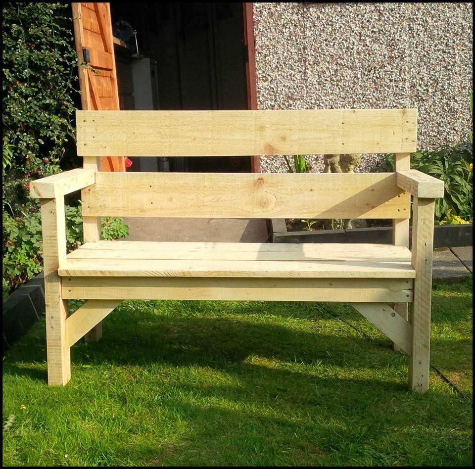 Pallet Garden Bench Bancs De Jardin Palettes Meuble 400 x 300