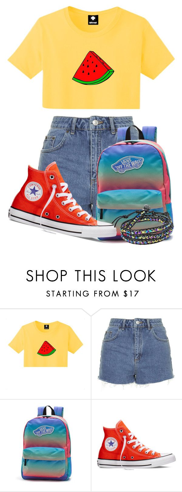 """""""Summer fruits"""" by tigerlily789 ❤ liked on Polyvore featuring Topshop, Vans, Converse, AeraVida, women's clothing, women, female, woman, misses and juniors"""