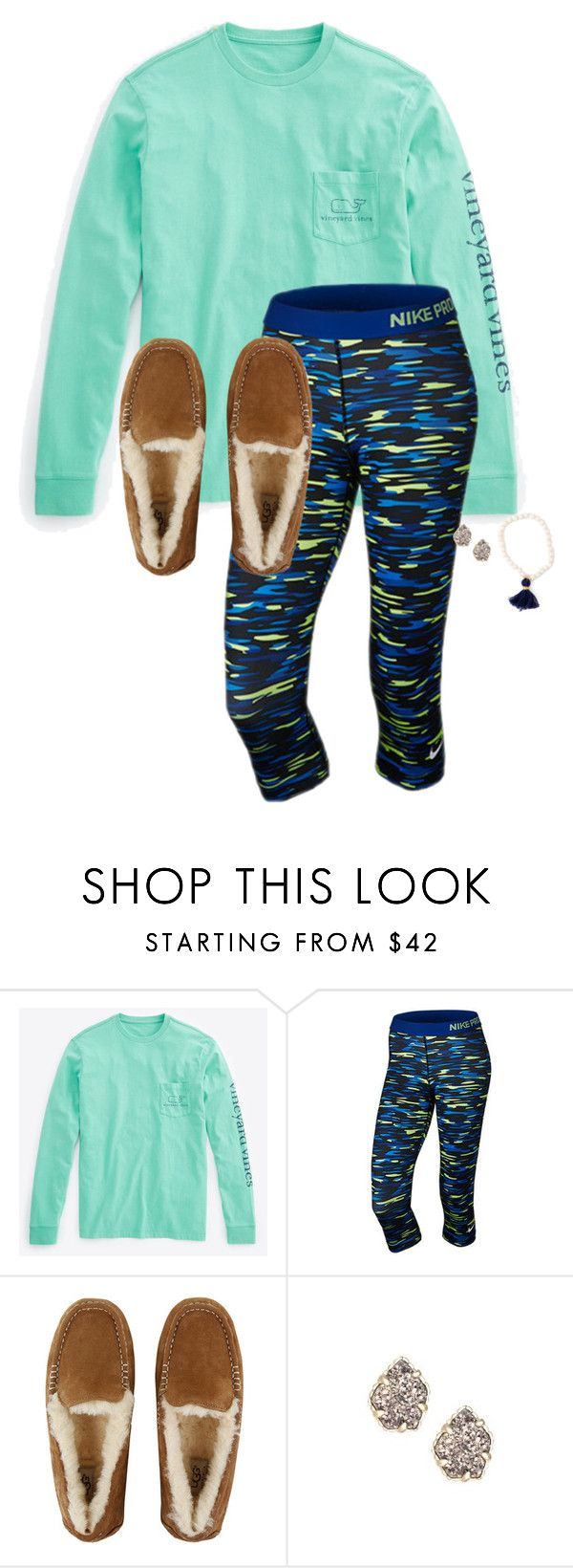 """""""Thanks for 900!!!"""" by hayley-tennis ❤ liked on Polyvore featuring Vineyard Vines, NIKE, UGG Australia and Kendra Scott"""