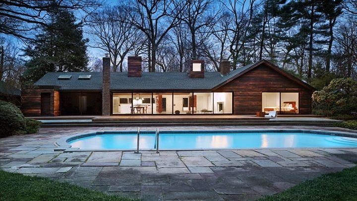 Bonita Casa Con Piscina En Long Island Nueva York Casas Con