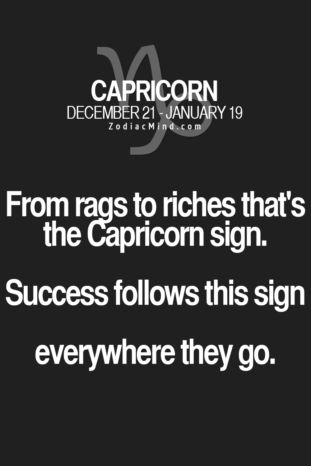 Fun facts about your sign here | Beauty | Capricorn sign