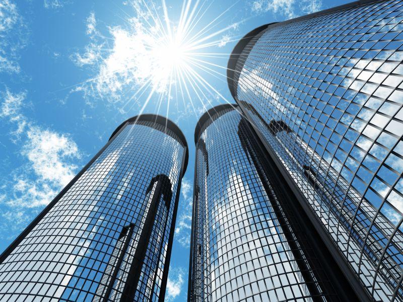 Own a company skyscraper commercial real estate building