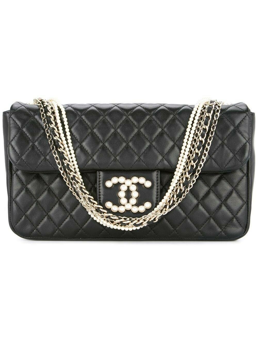Borse Chanel Vintage Usate.Borsa 10384 Chanel Pre Owned Usata Ricondizionata Chain Shoulder Bag Vegan Leather Shoulder Bag Shoulder Bag