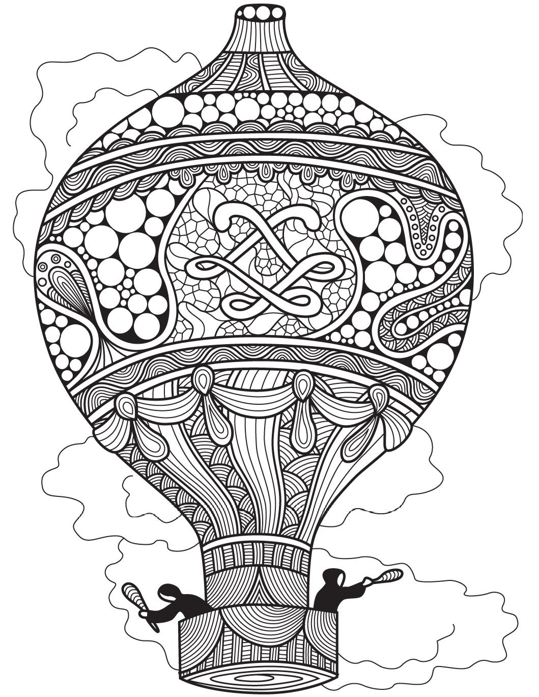 Hot air balloon | Colorish: coloring app for adults by GoodSoftTech ...