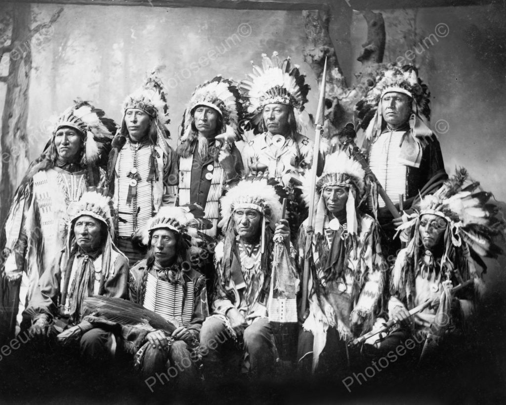 Sioux Chiefs Vintage 8x10 Reprint Of Old Photo