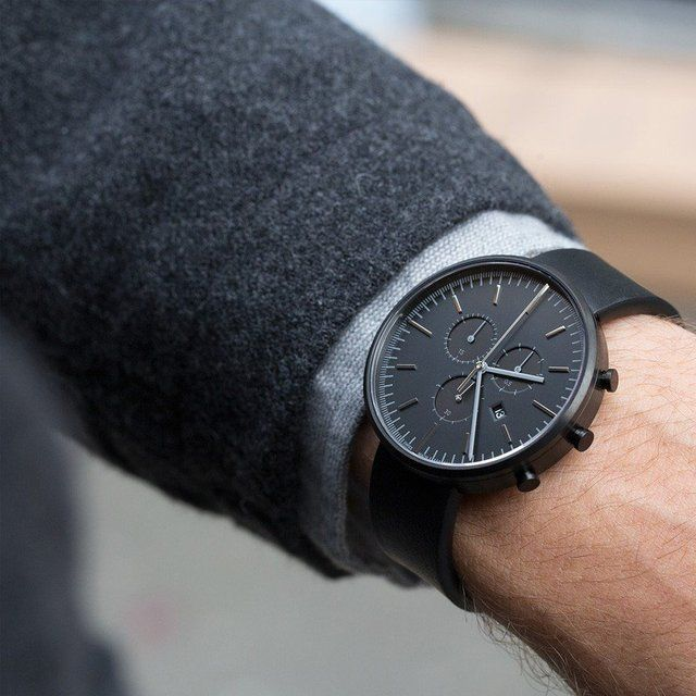 M42 PVD Black Chronograph Watch by Uniform Wares