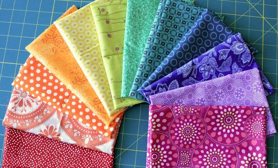 12 Color Wheel  Feed Your Stash Fat 8ths  Quilting by surlysheep, $18.00