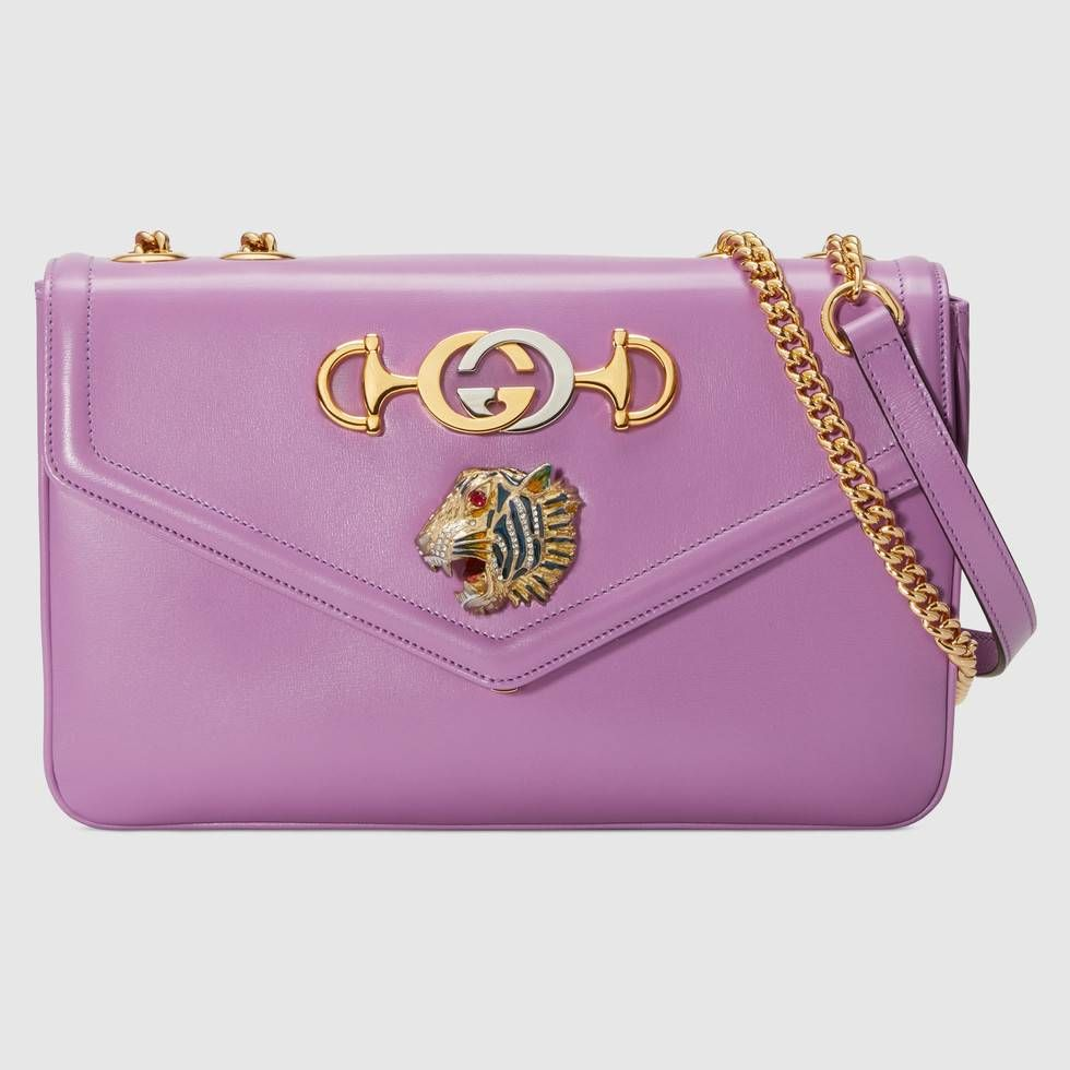 70ced8f5963 Handbags · Tiger Head · Shopping · Jewelry · Lilac · Shop the Rajah medium  shoulder bag by Gucci. With a retro-inspired shape
