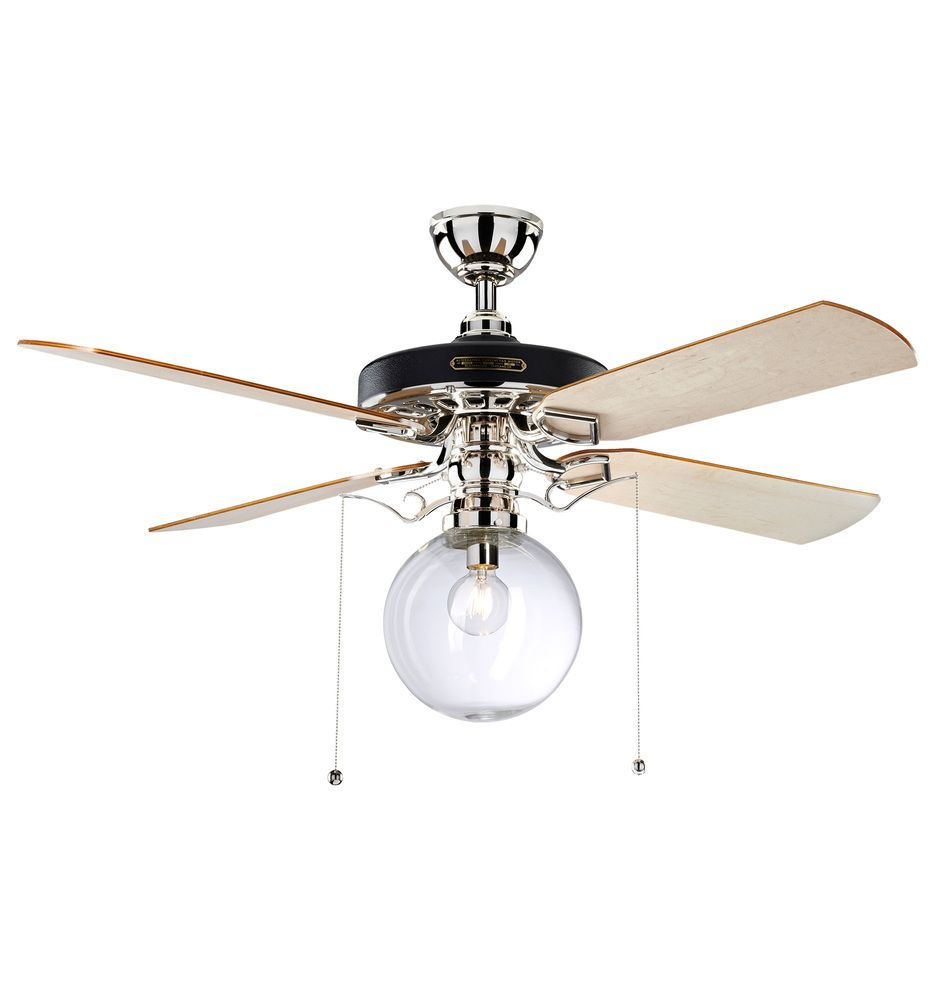 Heron Ceiling Fan With Clear Globe Shade Rejuvenation Ceiling Fan 60 Ceiling Fan Victorian Lighting