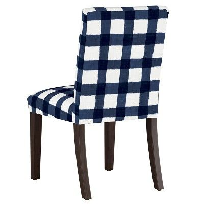 Best Luisa Pleated Dining Chair Blue Plaid Cloth Company 400 x 300