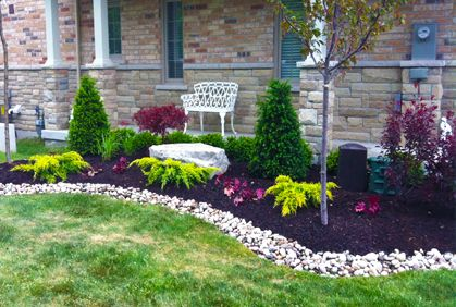 Simple cheap and easy landscaping design ideas gardening for Easy care shrubs front house