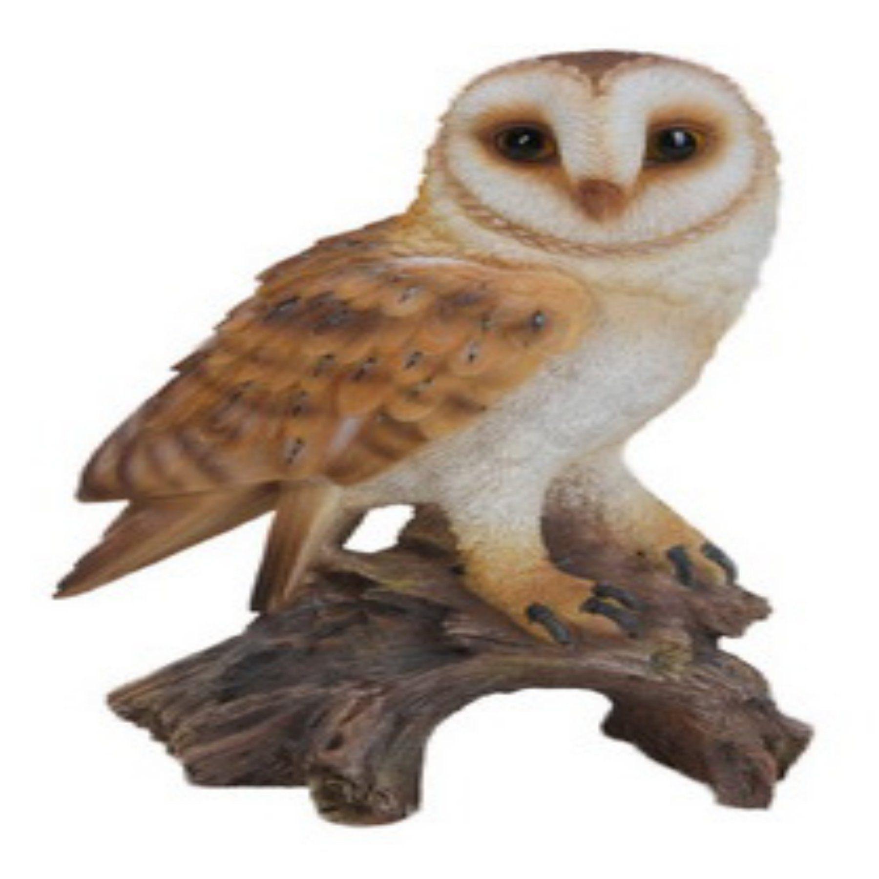 Hi-Line Gift Ltd. Barn Owl on Stump Garden Statue - 87767-E   Garden ...