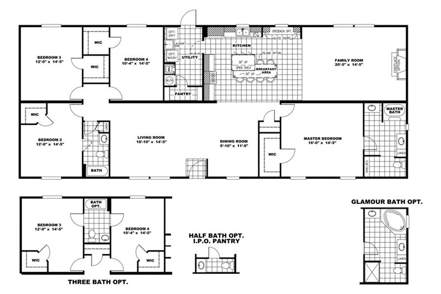 "Oakwood Homes Floor Plans floorplan mvp32764b ""the colonel"" 