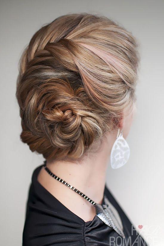 Hair Romance – French fishtail braided chignon