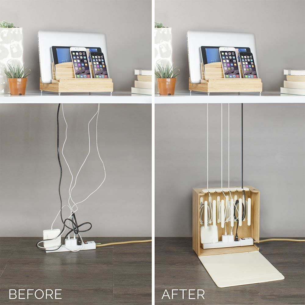Ultra Charging Station & Cord Corral Combo with 6 Outlet A