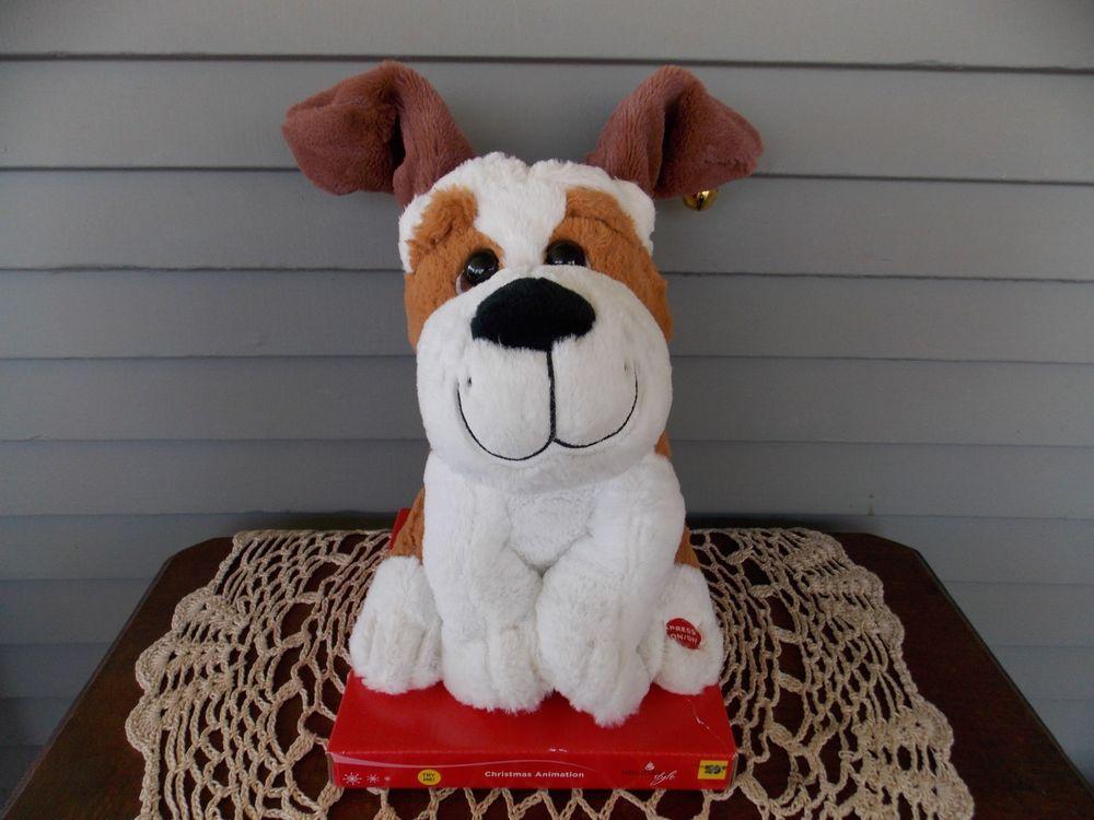 Singing Dancing 9 Animated Christmas Puppy Dog Christmas Puppy Animated Christmas Vintage Christmas