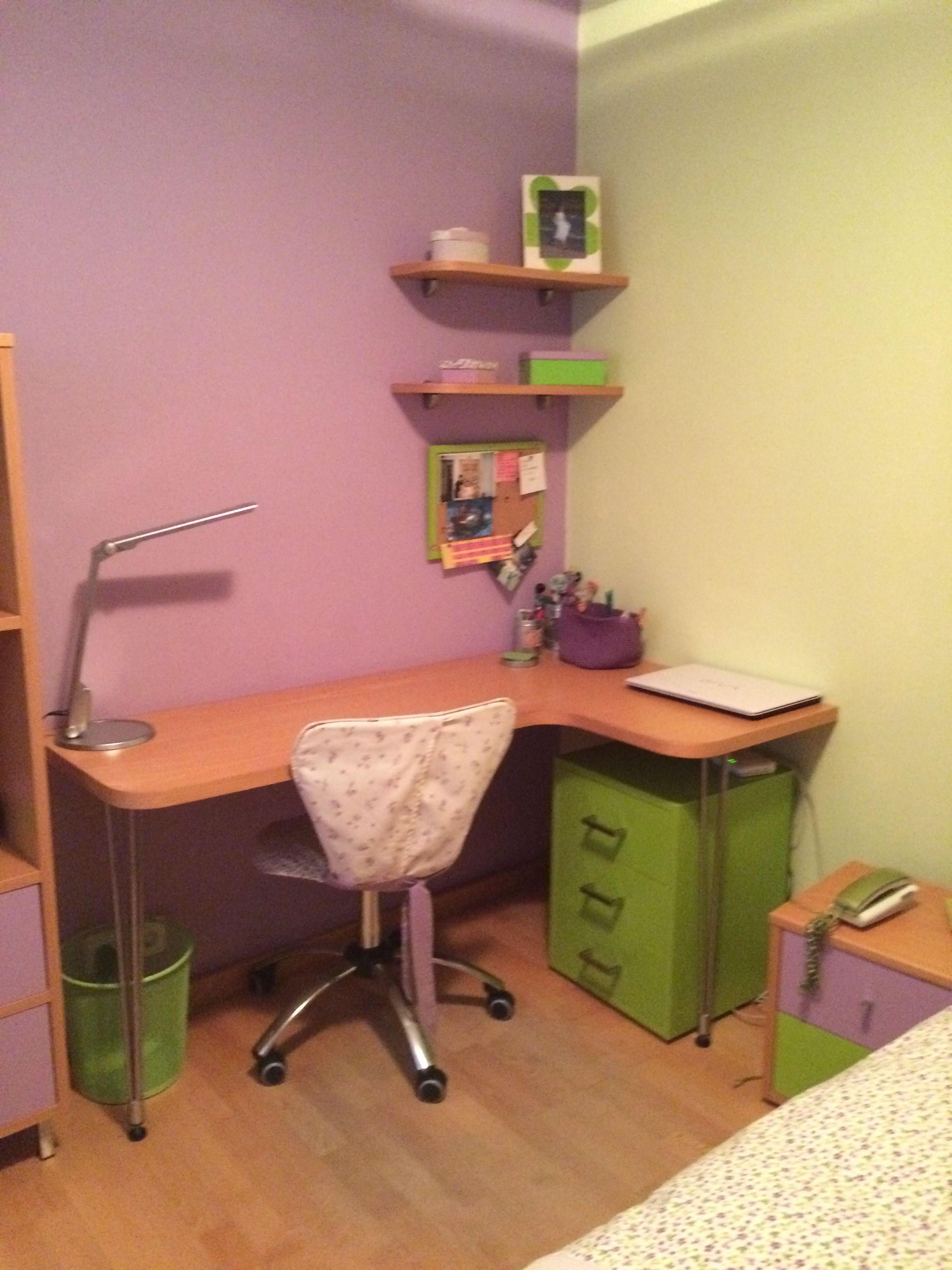 escritorio juvenil para nia