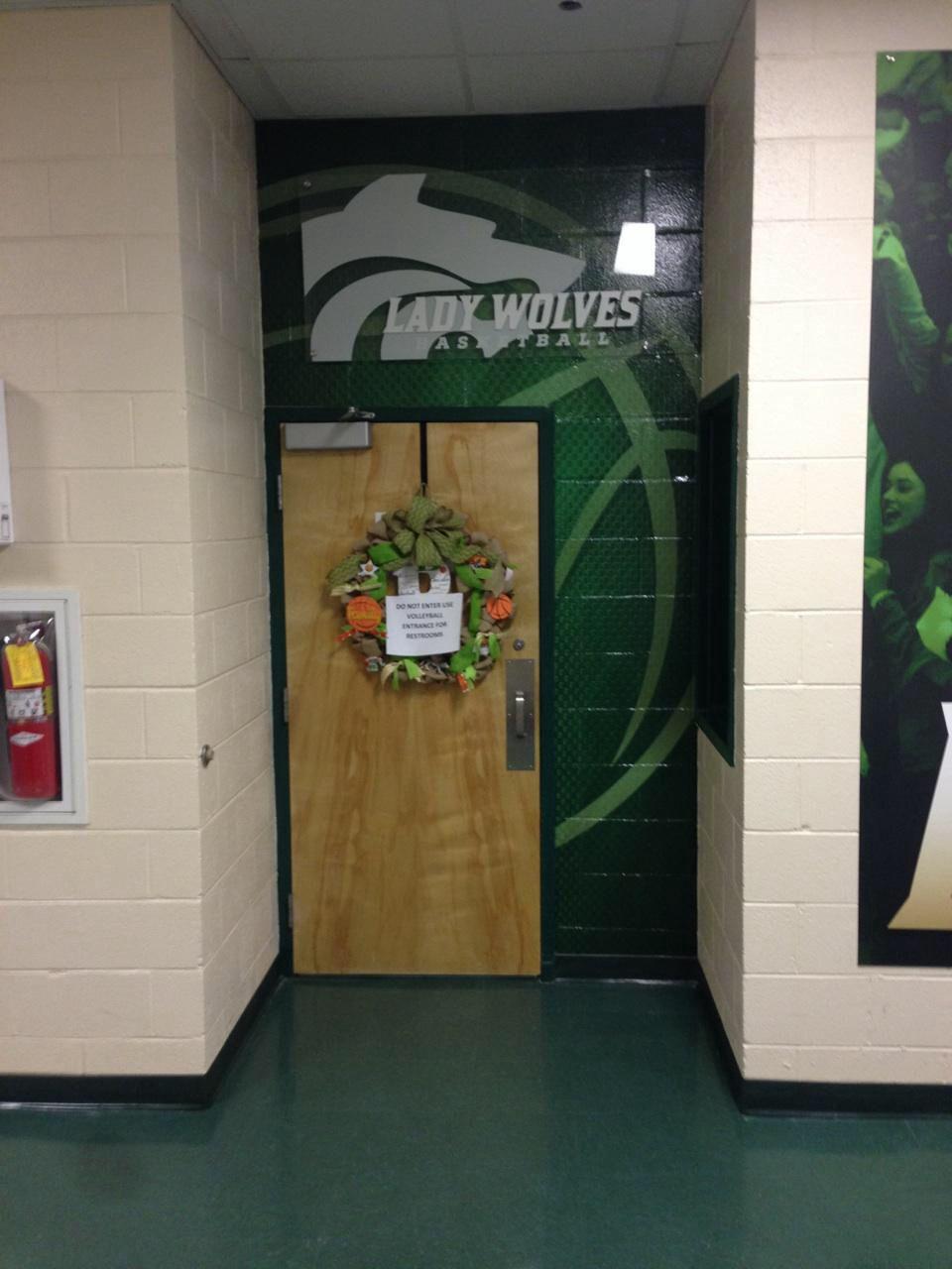 Buford Basketball locker room wall graphic with acrylic