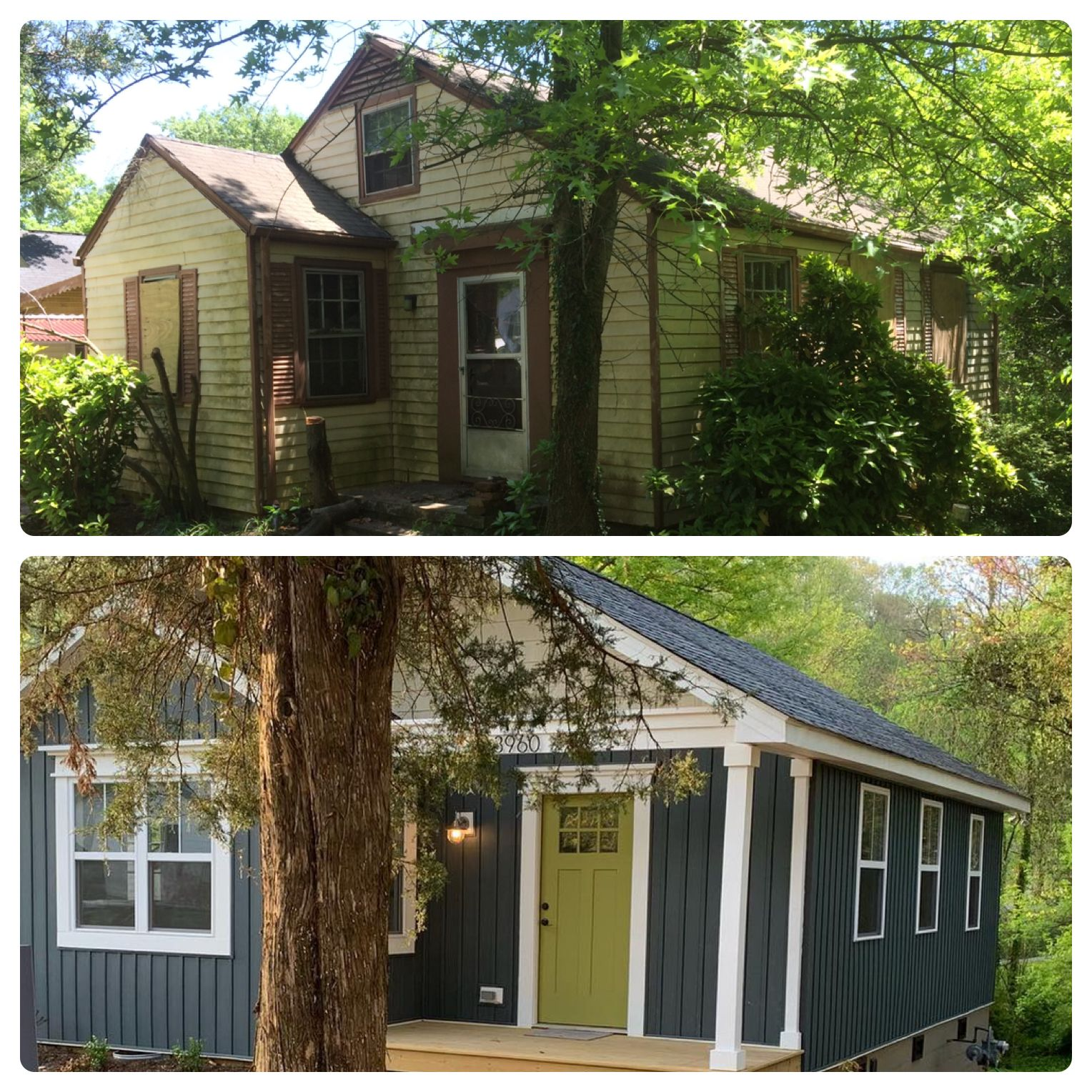 Before And After Exterior Renovation House Exterior Exterior Renovation Best Front Door Colors