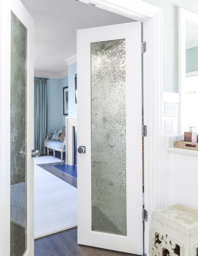 Mercury Glass Mirrored French Doors In Master Bathroom Give It A