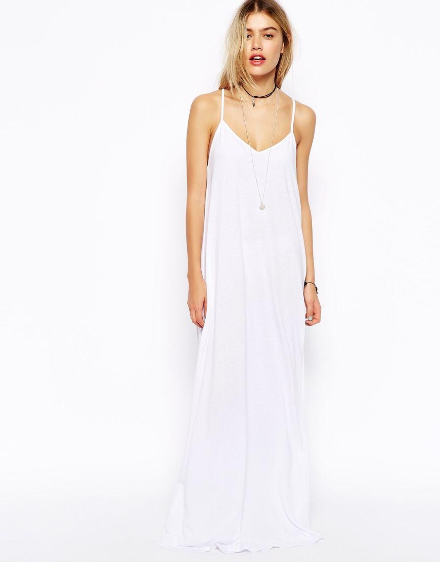 White maxi dress asos