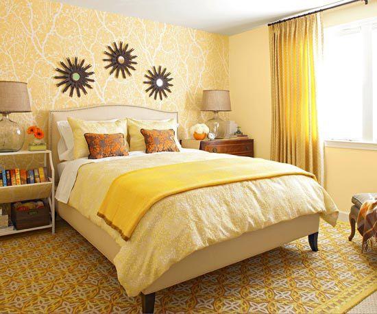 Brighten a Bedroom with a Yellow Makeover - Yellow, Geel en Slaapkamer