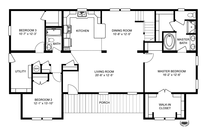 Interactive Floorplan 3852 67X28 CK3 2 OAKWOOD MOD