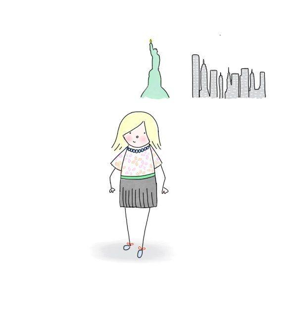 PORTRAIT Custom Illustration Original by ValeriaIllustration   Girl   New York   Statue of Liberty